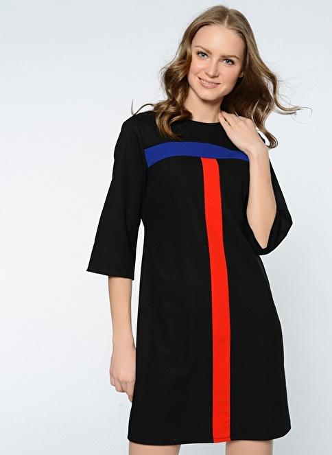 Koton Truvakar Kol Mini Elbise Siyah